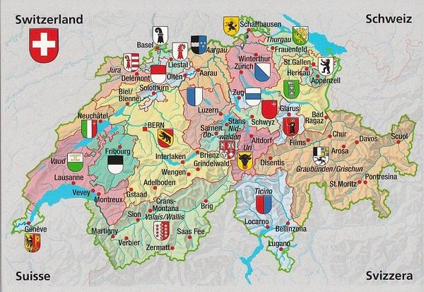 Switzerland Map by AneJansevanrensburg