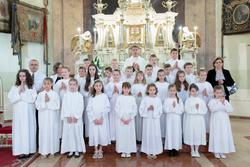 Elsőáldozás a Nádi Boldogasszony templomban - 2018.05.13.