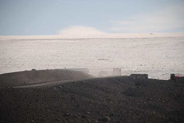 road to the glacier by Maria Dzeshchanka