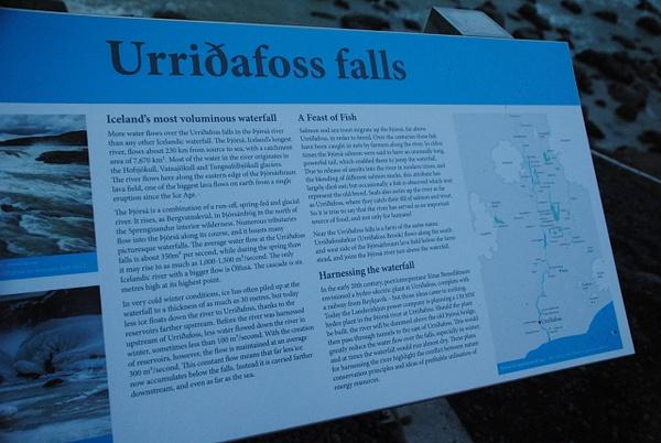 Waterfall info by Maria Dzeshchanka