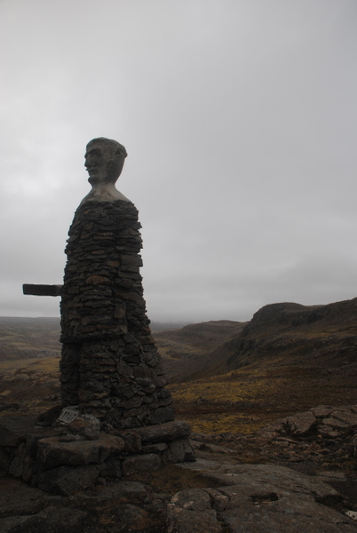 Stone guy in the middle of nowhere by Maria Dzeshchanka