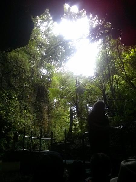 Way out of Glowworms Caves of Waitomo by Maria Dzeshchanka