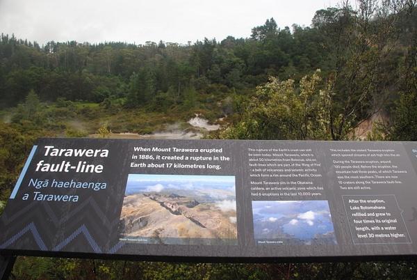 Tarawera fault-line by Maria Dzeshchanka
