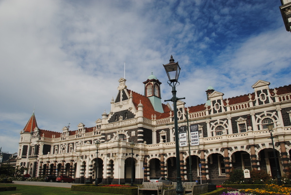 Dunedin Railway Station by Maria Dzeshchanka
