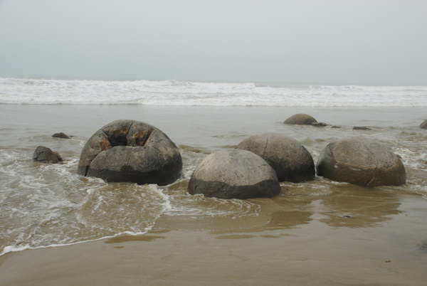 Moeraki Boulders by Maria Dzeshchanka
