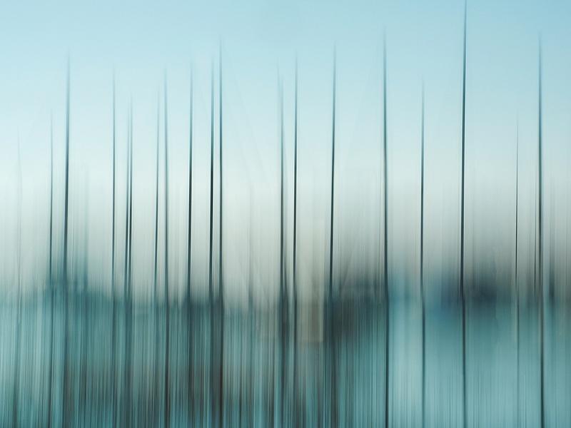 Abstract Sailboat Masts