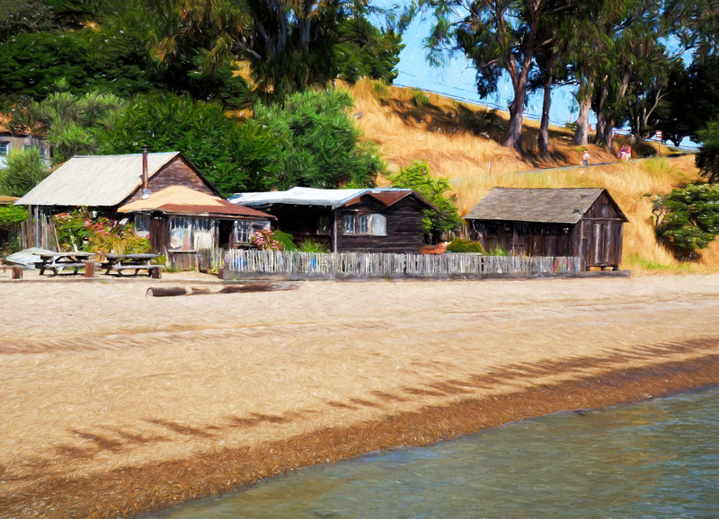 China Camp Village - Painterly