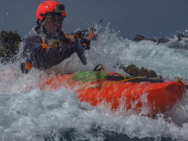 White Water Sea Kayaking On The Sonoma Coast Near Jenner...