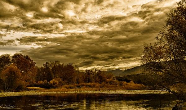 Autumn Along The Salmon River by Cass Kalinski