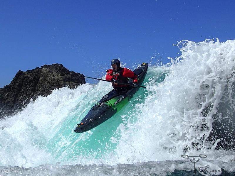 White water ocean kayaking