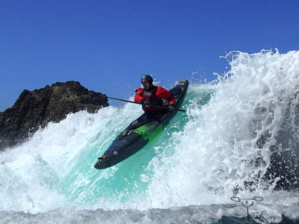 White water ocean kayaking