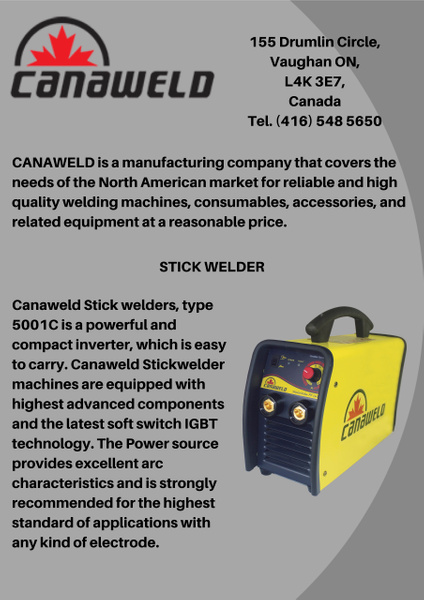 Stick Welder Machine by Canaweld