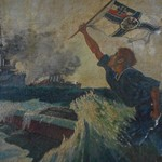 Katrina's: Sailor - Oil on Paper