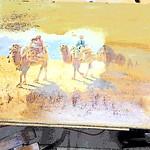 Camel Caravan Painting-03-11-2019