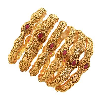 Lucky copper bangle