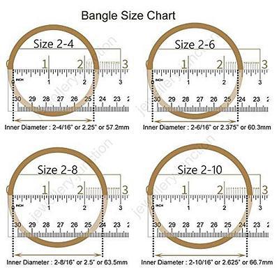 NEW BANGLE SIZE CHART