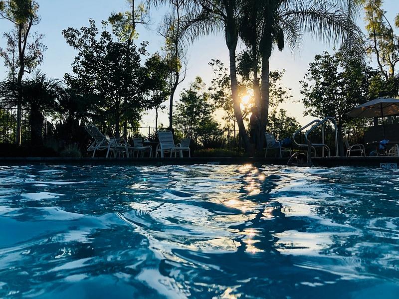 The Pool's Glare