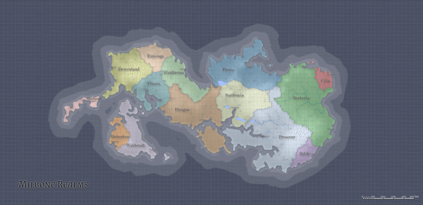 Political map with square grid overlay by Azgaar9