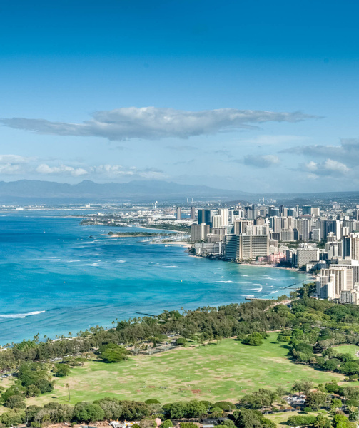 Waikiki from Diamond Head by Brian Smith