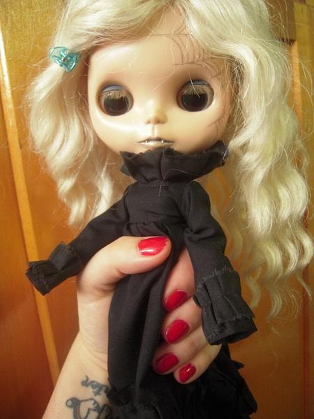 Ghost, custom Blythe doll by JTABlythe