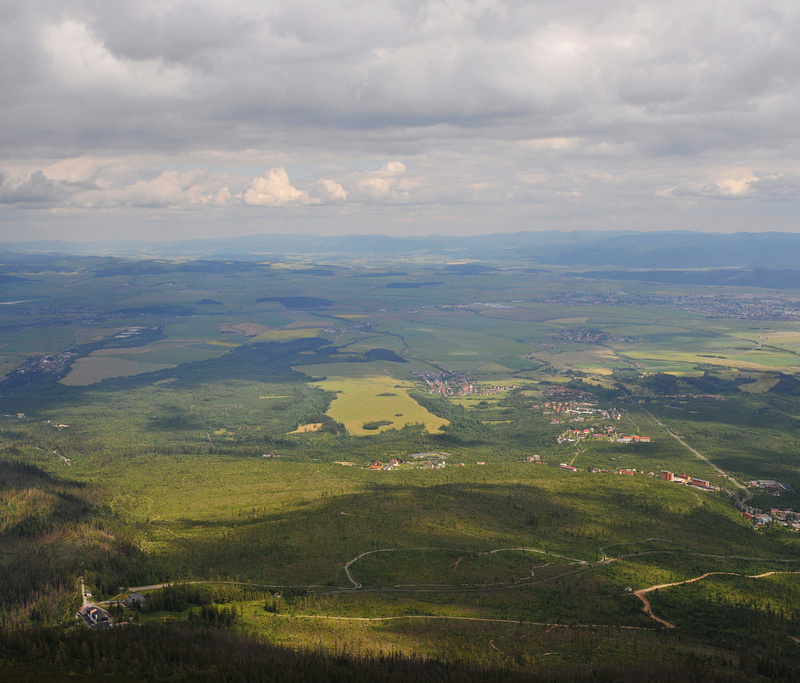 Panorama of central Slovakia