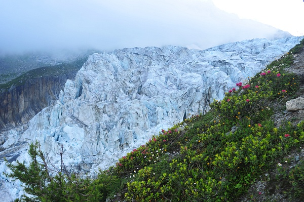 French Alps, Glacier - In the Morning Fog by Victor...