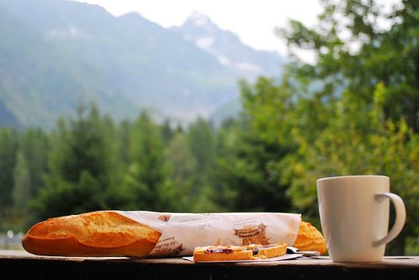 French Alps, Breakfast by Victor Francuzov