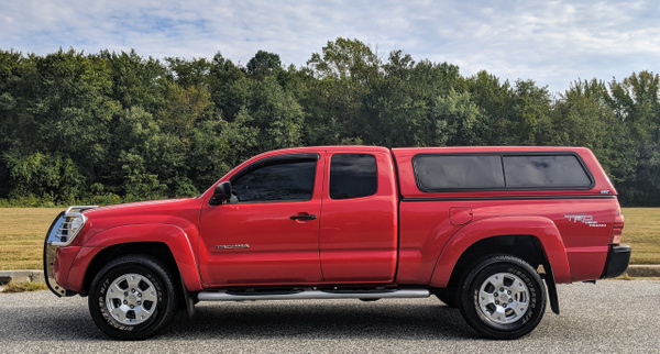 Red tacoma by autosales by autosales