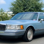 Mar blue 1990 lincoln
