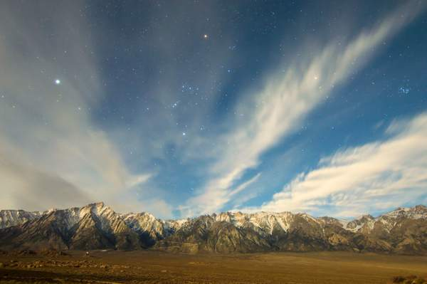 Eastern Sierra Nevada Starry Night