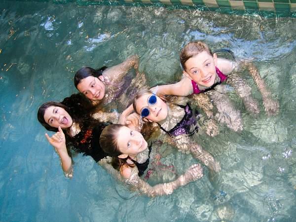 Birthday swim at embassy suites