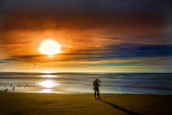 Beachcomber - ICM - Landscape - Roxanne Bouche Overton