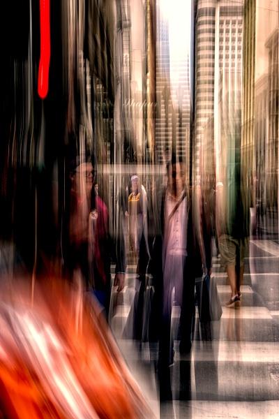 Walking Through Light - ICM -Urban - Roxanne Bouche Photography