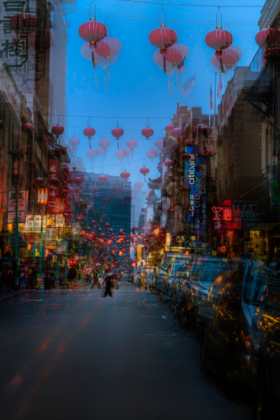 Chinatown Lanterns - ICM -Urban - Roxanne Bouche Photography