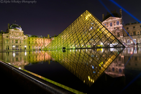 Louvre Pyramid, Paris by Alpha Whiskey Photography