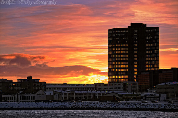 Sunrise, Reykjavik by Alpha Whiskey Photography