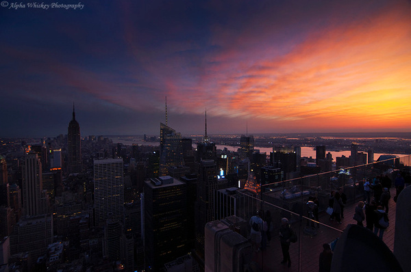 Sunset Over Manhattan by Alpha Whiskey Photography