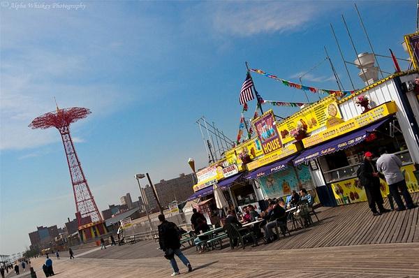 Coney Island Boardwalk by Alpha Whiskey Photography