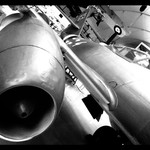RAF Museum - By Phone - In B+W