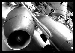 RAF MUSEUM IN B+W BY PHONE