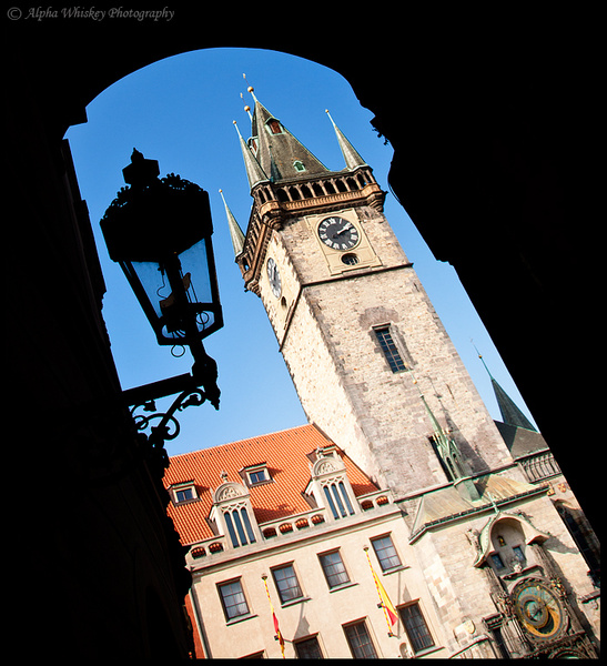 Prague Clock Tower by Alpha Whiskey Photography