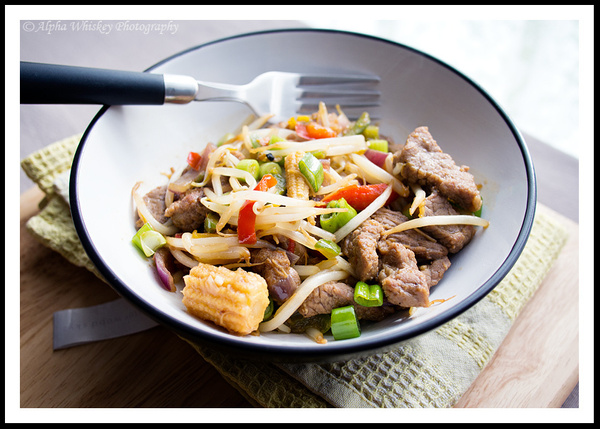 Beef and Bean Sprout Stir Fry by Alpha Whiskey Photography