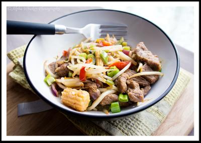 Beef and Bean Sprout Stir Fry