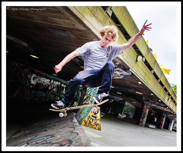 South Bank Skateboarders and Cyclists by Alpha Whiskey...