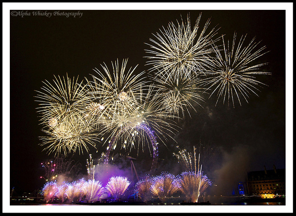 New Year Fireworks (vintage) by Alpha Whiskey Photography