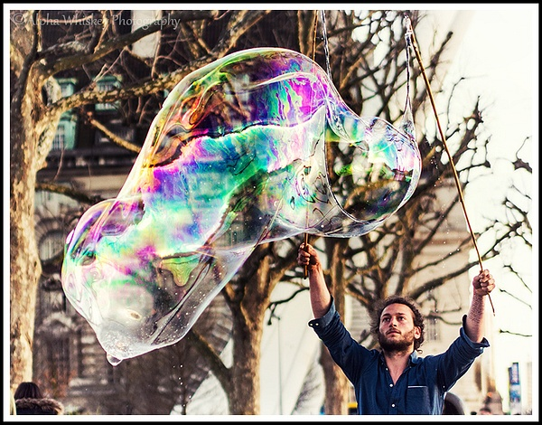Bubble And Street by Alpha Whiskey Photography