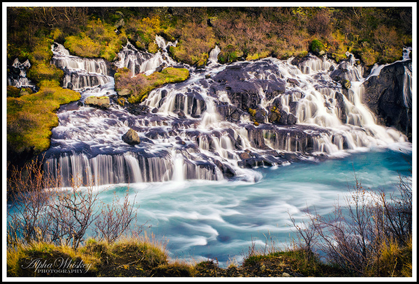 Hraunfossar And Grabrok by Alpha Whiskey Photography