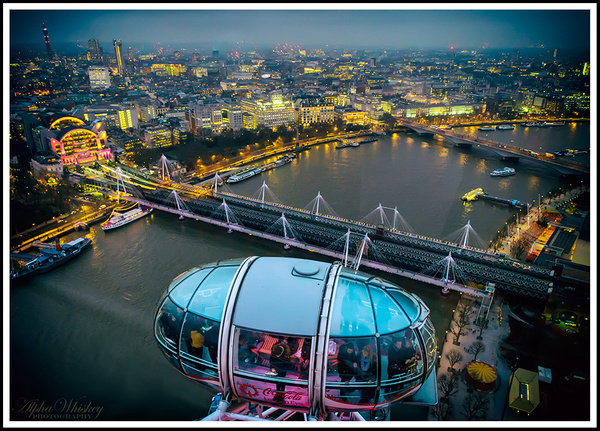View From The London Eye by Alpha Whiskey Photography
