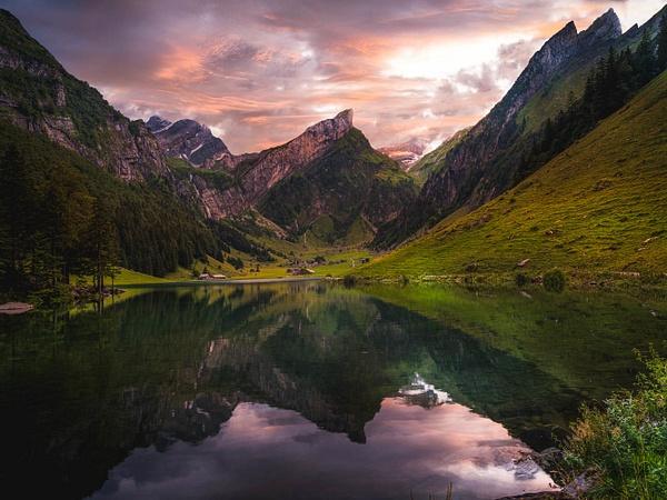 SeeAlpSee Lake by Serge Ramelli