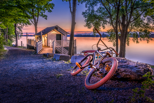 Bicycle at the Boathouse - Landscapes - Dee Potter Photography